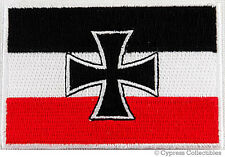 GERMAN IRON CROSS BIKER VEST PATCH MOTORCYCLE JACK FLAG embroidered applique NEW