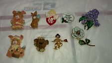 Lot of 9 Holiday Pins Brooch Avon Halloween Christmas Easter Xmas Vintage