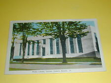 Public Library, London Ontario Canada Postcard