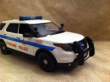 1/18 SCALE CHICAGO POLICE PD FORD SUV UT DIECAST MODEL NON WORKING LIGHTS