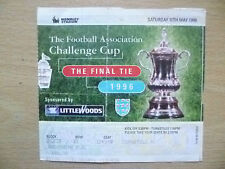 Tickets/ Stubs: FA CUP FINAL 1996- LIVERPOOL v MANCHESTER UNITED