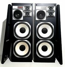 "Pair of Vintage Kenwood JL-940W 12"" 4-Way Floor Speakers -Very Nice and New Foam"