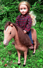 "Our Generation 18"" Blonde Doll & Horse - AG Size - VGC"