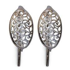 Filigree Sterling Silver Earrings 43551 (1 pair) Earwires French Hook