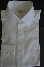 NWT Brooks Brothers White Spread Collar Shirt 16-33.5 USA MSRP $180