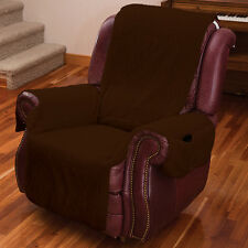 NEW (Set/2) Recliner Chair Covers with Armrests and Pockets Brown - One Size