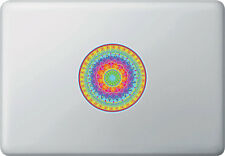 "CLR:MB - Rainbow Heart Mandala - Laptop Macbook Vinyl Decal ©YYDC (4"" dia.)"
