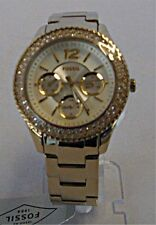 Fossil -  Ladies Stella Multi-Function Champagne Dial Watch - Gold-Tone - ES3589