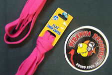 "Hot Pink Thin Flat 45"" x (3/8""-5/8"") JN Shoelaces Shoe Strings Piranha Records"
