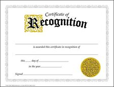 30 Certificates of Recognition (large) certificate award pack by TREND