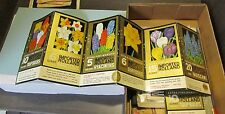 Vintage Gold Ribbon Bulbs Standup Advertising Sign Holland Colorful Flowers