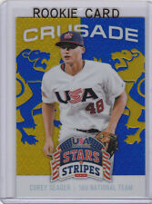 COREY SEAGER Crusade FOIL ROOKIE CARD Los Angeles Dodgers Baseball TEAM USA RC