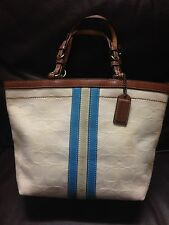 NO RESERVE Authentic Coach Women's Small HandBag Purse Shoulder Bag Cream