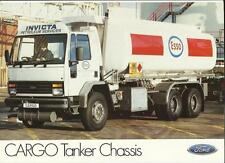FORD CARGO TANKER CHASSIS TRUCK LORRY SALES 'BROCHURE'/SHEET  MID 80's