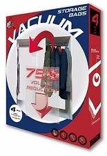 SuperSave Vacuum Storage Space Bags for Hanging Pack of 4 (M2L2) Triple-Zipper