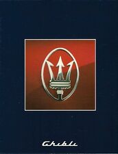 Maserati Ghibli 2.8 1992-95 UK Market Multilingual Foldout Sales Brochure