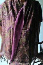 Ralph Lauren Luxury Collection Large Double-sided Silk Shawl