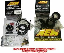 AEM 2 Gauges Combo UEGO WideBand Air Fuel + Turbo Boost Pressure 30-4406 30-4110