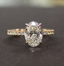 Stunning 1.50 Ct Oval Brilliant Cut Diamond Engagement Ring E,VS2 GIA 18K WG