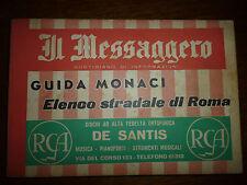 GUIDA MONACI Elenco Stradale di Roma IL MESSAGGERO 1958