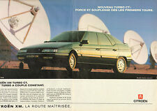 Publicité Advertising 1990  (double page)  CITROEN XM TURBO CT