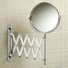 WALL MOUNTED 3X MAGNIFICATION SHAVING MAKEUP MAGNIFYING BATHROOM COSMETIC MIRROR