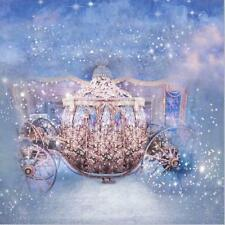 10x10FT Cinderella Princess Gold Carriage Background Backdrop Photography Prop