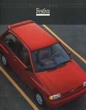 1992 Ford Festiva Kia 8-page Original Car Sales Brochure Catalog