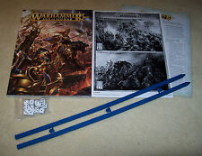WARHAMMER AGE OF SIGMAR Rulebook, Measuring Sticks, Dice & Reference Cards