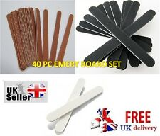 40 Assorted Emery Boards Set Nails Manicure Pedicure Board Art Nail File Files