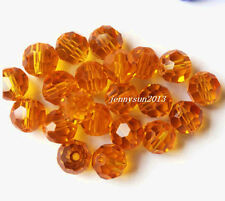 Lots 50/100Pcs Czech Rondelle Crystal Glass Loose Charms Spacer Beads 4/6/8mm