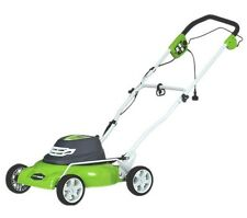 """GreenWorks 25012 18"""" 12A 2 in 1 Electric Mower NEW"""