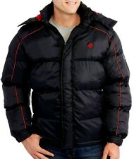 MEN'S SIZE 2X  WINTER COAT SWISS CROSS WARM JACKET INSULATED PREMIUM BLACK RED