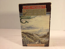 Vintage Lord of the Rings Hobbit Boxed Set J. R. R. Tolkien Books Slipcover Rare