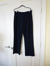 Chico's Pull on Pants size 3 L 16 Short navy blue elastic waist
