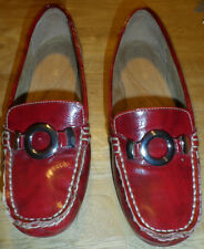 """WOMENS NATURALIZER SHOES- RED """"PATENT LEATHER""""- LOAFERS-GABINA- SIZE 6"""