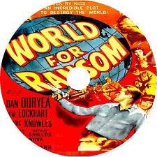 WORLD FOR RANSOM (1954) Dan Duryea Gene Lockhart  Rare DVD