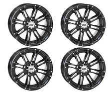 4 ATV/UTV Wheels Set 12in STI HD3 Gloss Black 4/156 4+3 POL