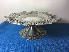 RARE ANTIQUE 1909 J.E. CALDWELL & CO. STERLING SILVER COMPOTE TOTAL 506 GRAMS