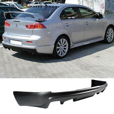 08-15 MITSUBISHI LANCER REAR BUMPER LIP ADD ON VALENCE CHIN BODY KIT POLY