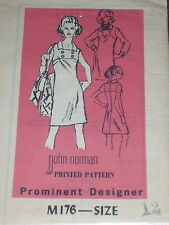 DESIGNER #M176- DESIGNER JOHN NORMAN - LADIES DRESS w/BUTTON ACCENT PATTERN 12uc