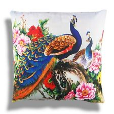 New Oriental Chinese Style Colorful Peacock Home Pillow Case Cushion Cover 18''