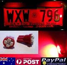 Red LED T10 Number Plate Bulbs -  Holden Commodore VN VP VR VS VT VU VX VY VZ VE