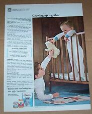 1967 ad page - Gerber Baby Foods CUTE baby little boy Babygro PRINT Advertising