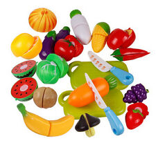 Fruit Pretend Kitchen Cutting Set New Fruit Vegetable Food Reusable Role Play