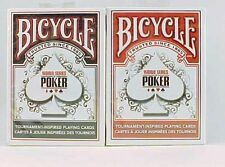 2 Decks Bicycle World Series Poker Standard Poker Playing Cards, New and MINT!