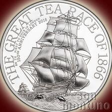 GREAT TEA RACE 1/2 HALF OZ  2016 Cook Islands 15 gram 2 Dollar Silver Proof Coin