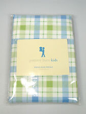 Pottery Barn Kids Standard blue green Spring Plaid Check one Pillowcase