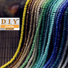 Faceted Crystal Glass Loose Spacer Beads Jewelry.DIY Crafts™ GiftsLots Rondelle.