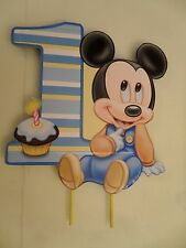 Baby Mickey Mouse First Birthday Cake Topper or Centerpiece